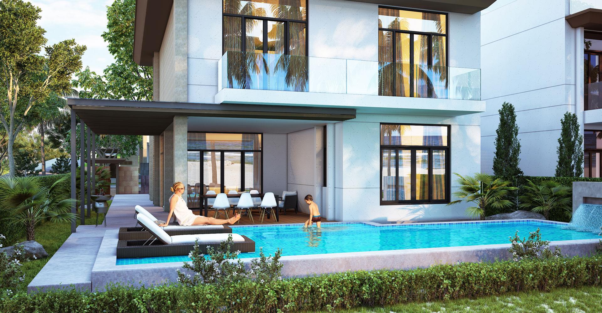Mỗi biệt thự Cam Ranh Mystery đều có hồ bơi trong nhà