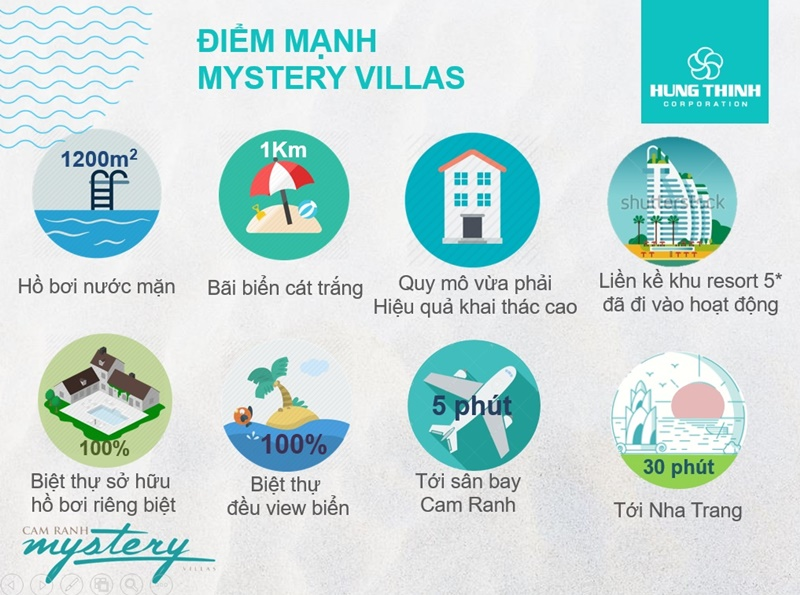 Điểm mạnh dự án Cam Ranh Mystery Villas Hưng Thịnh