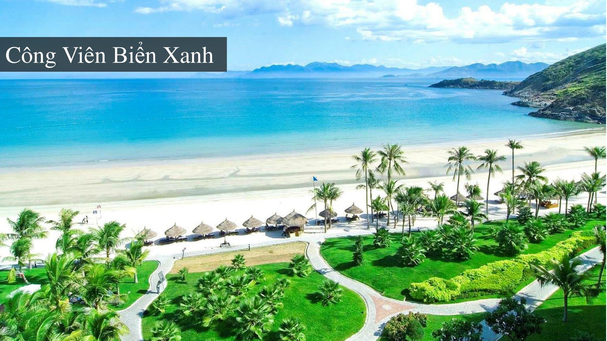 Công viên biển xanh tại Sentosa Villas Mũi Né Phan Thiết