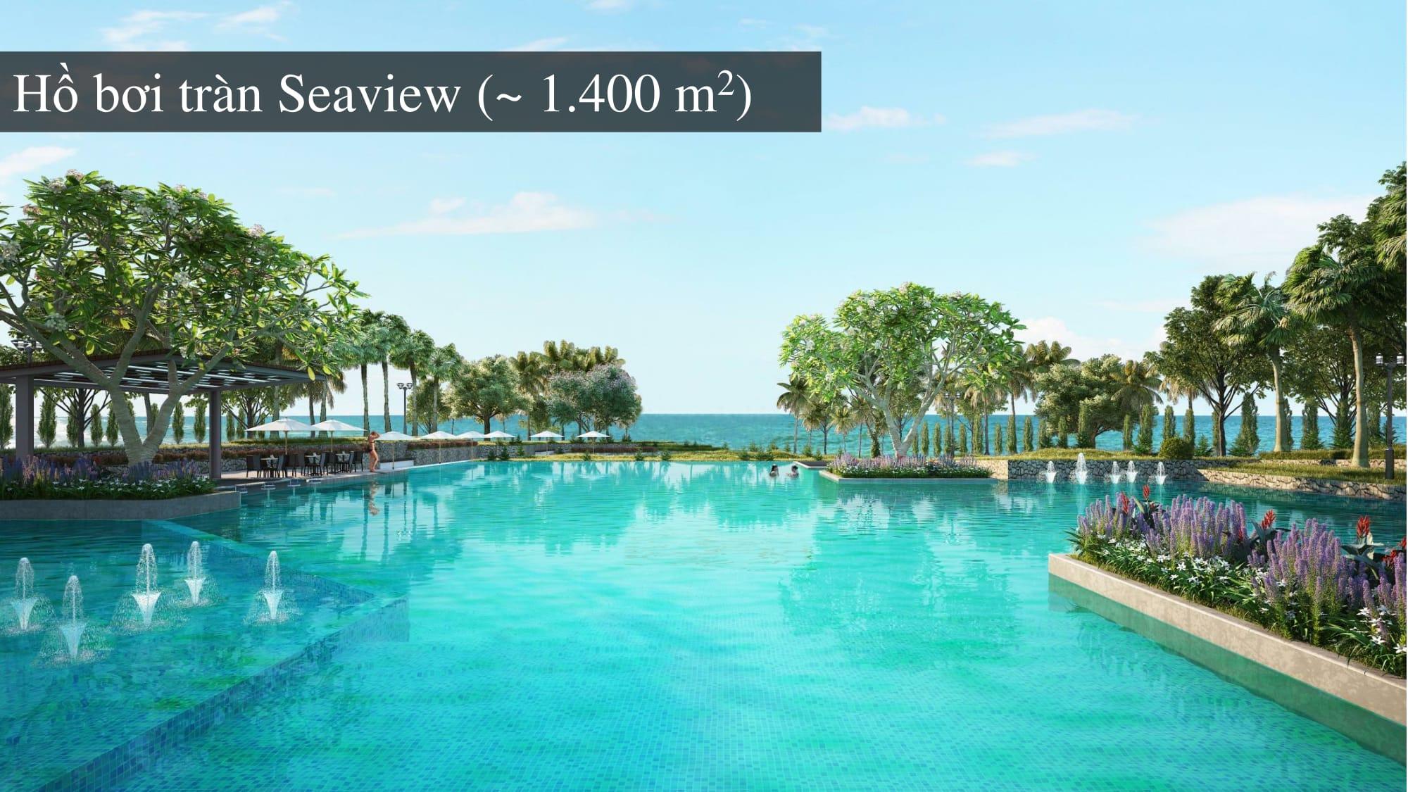 Hồ bơi Seaview rộng 1.400m2 tại Sentosa Villas