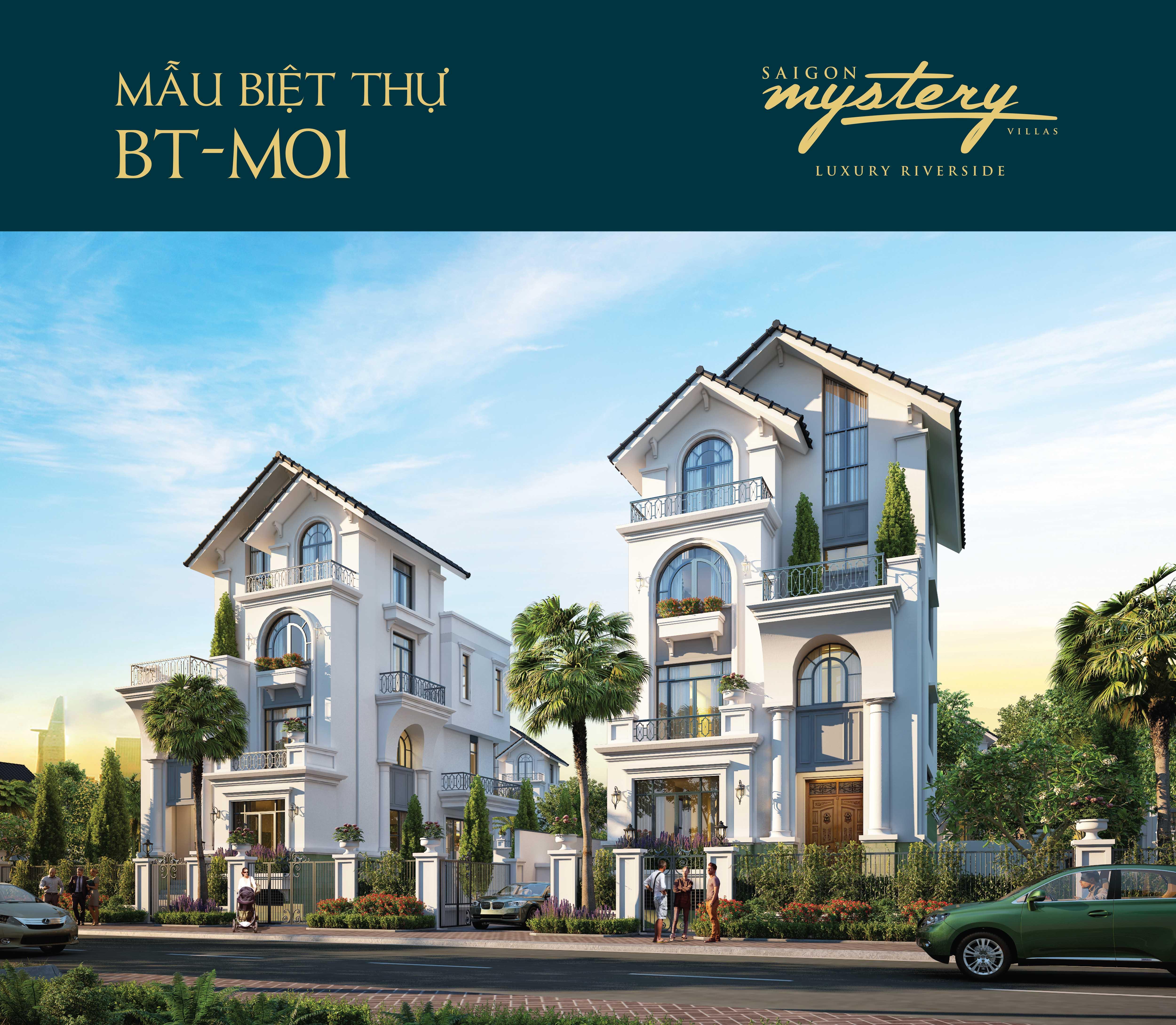 Mẫu biệt thự BT-01 Saigon Mystery Villas quận 2 Hưng Thịnh