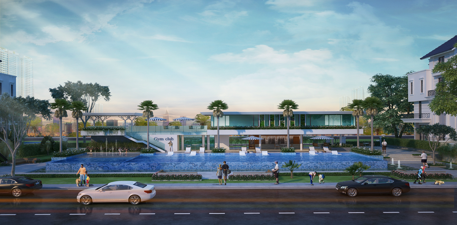 Hồ bơi rộng lớn tại Saigon Mystery Villas quận 2 Hưng Thịnh