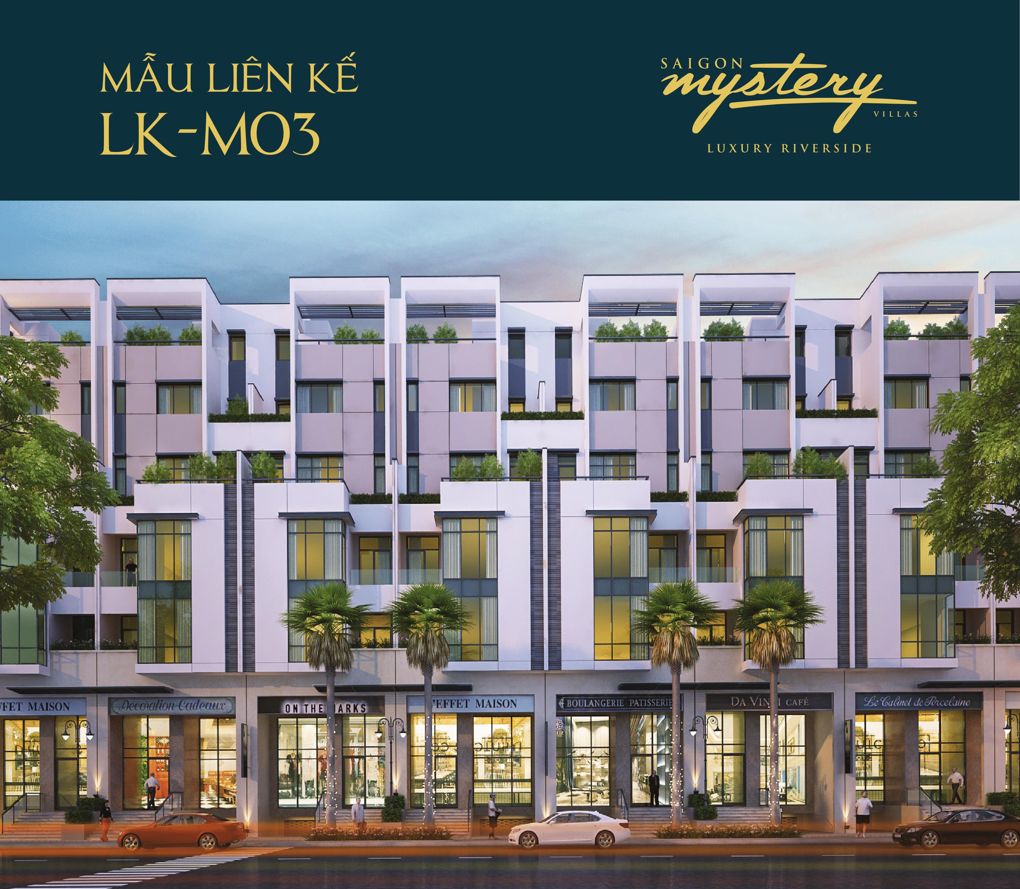 Mẫu nhà phố liên kế LK-M04 Saigon Mystery Villas Quận 2