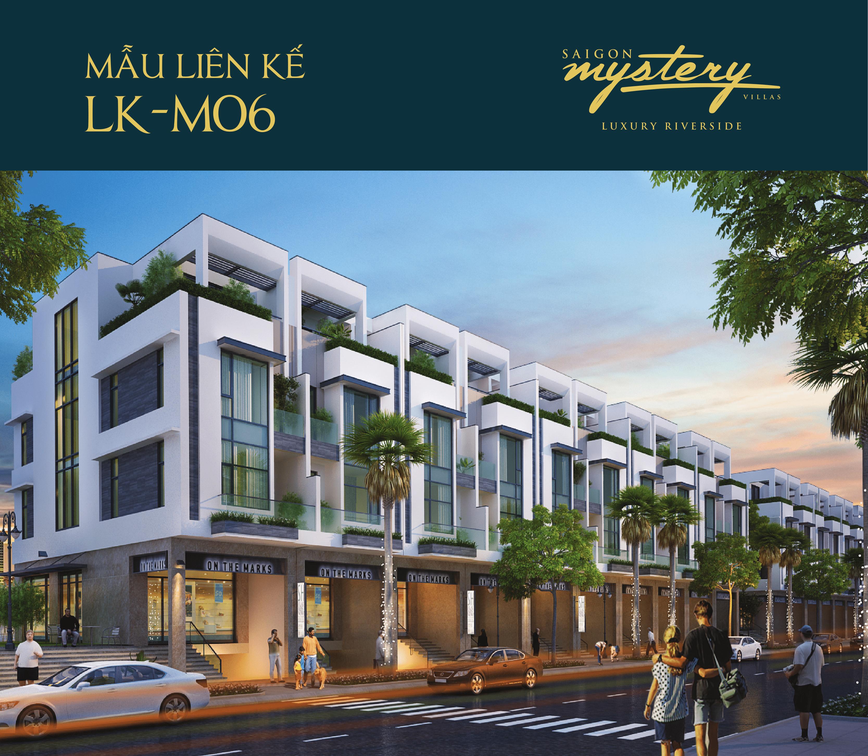 Mẫu nhà phố liên kế LK-M06 Saigon Mystery Villas Quận 2