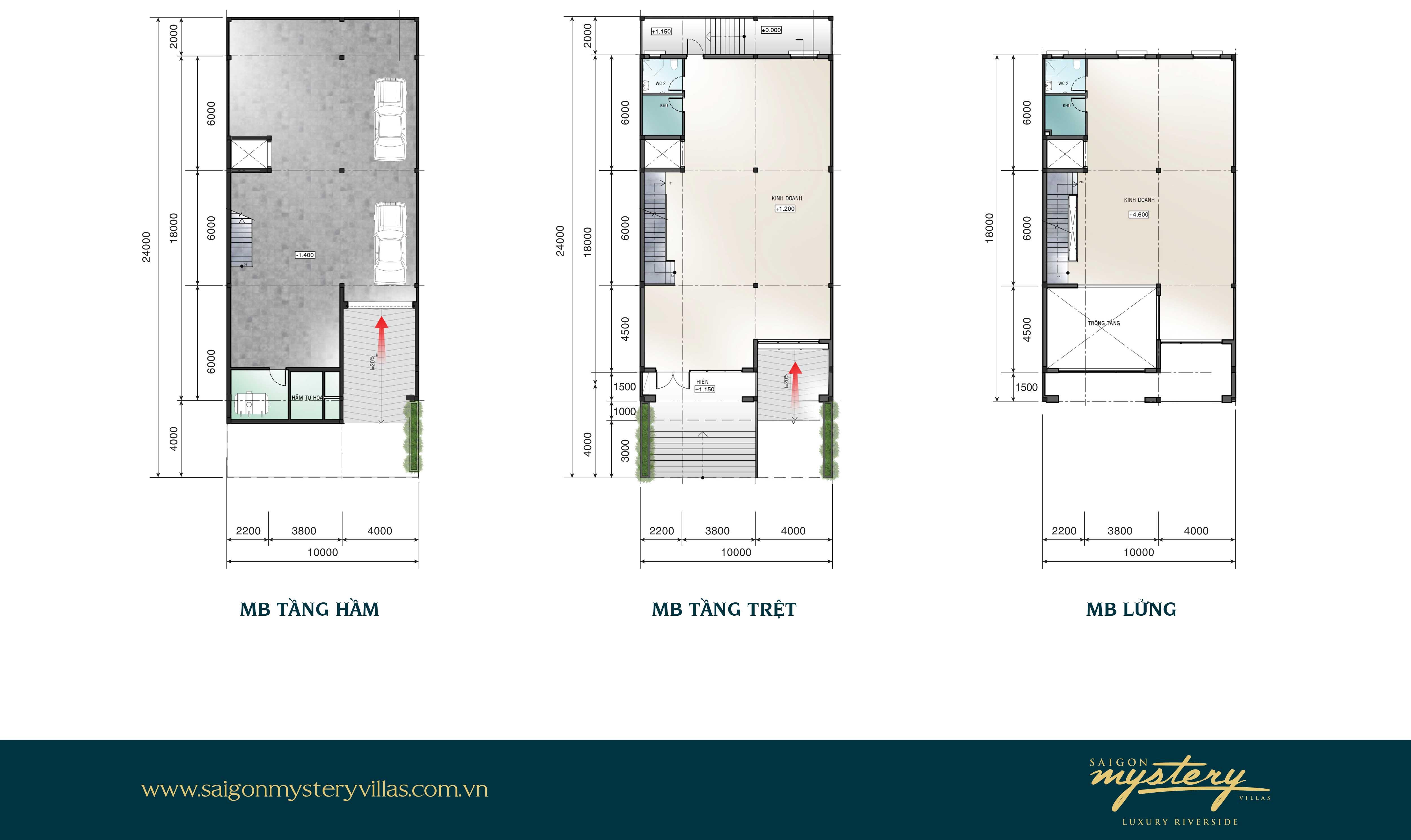 Mẫu nhà phố liên kế LK-M34 Saigon Mystery Villas Quận 2
