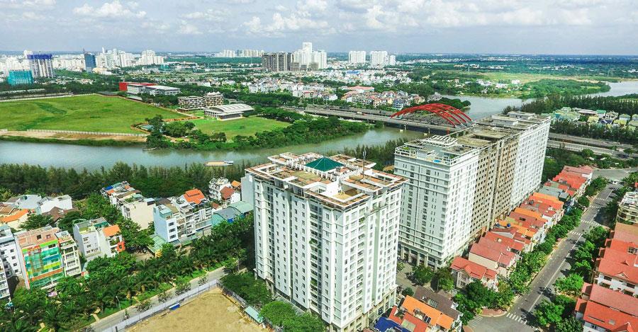 Từ Citizents Khu Trung Sơn view nhìn về Quận 1