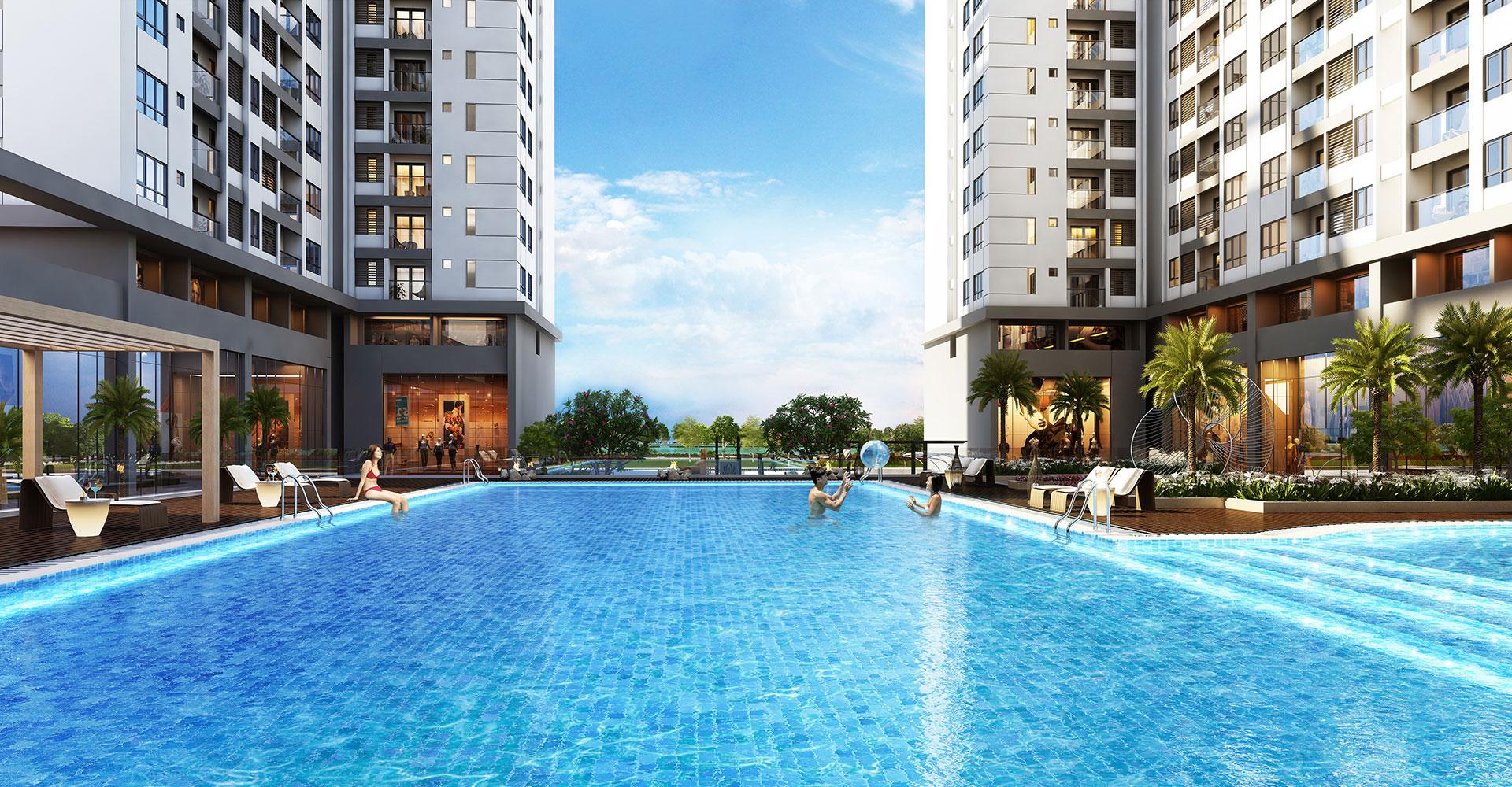 Hồ bơi nội khu tại dự án Florita quận 7 của Hưng Thịnh