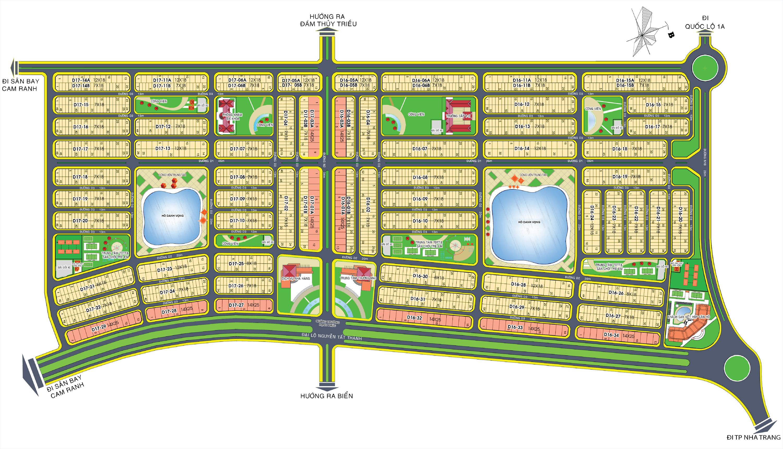Mặt bằng tổng thể dự án Goldn Bay Cam Ranh Hưng Thịnh
