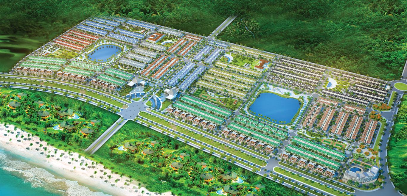 Phối cảnh tổng thể dự án Golden Bay Cam Ranh Hưng Thịnh