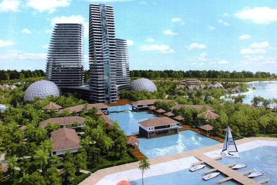 Phác thảo trung tâm giải trí quốc tế ở Khu Du lịch Golden Bay Bắc bán đảo Cam Ranh