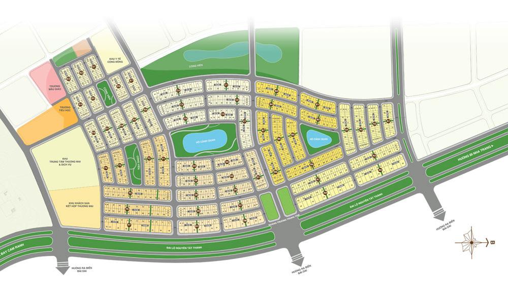 Mặt bằng dự án đất nền khu đô thị Golden Bay Cam Ranh