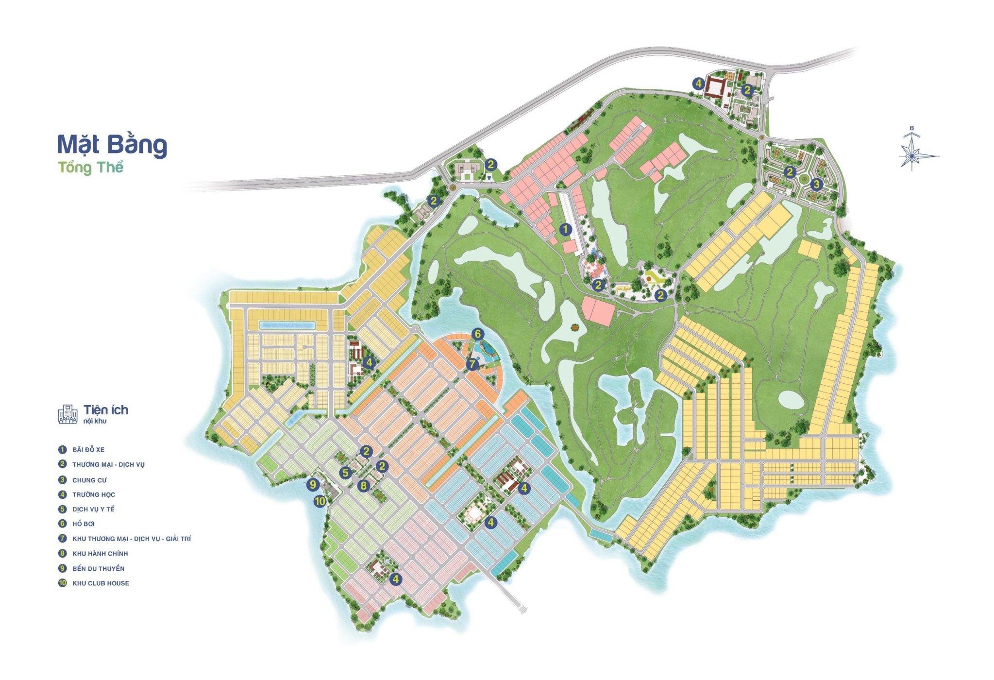 Mặt tổng thể toàn khu dự án Biên Hoa New City