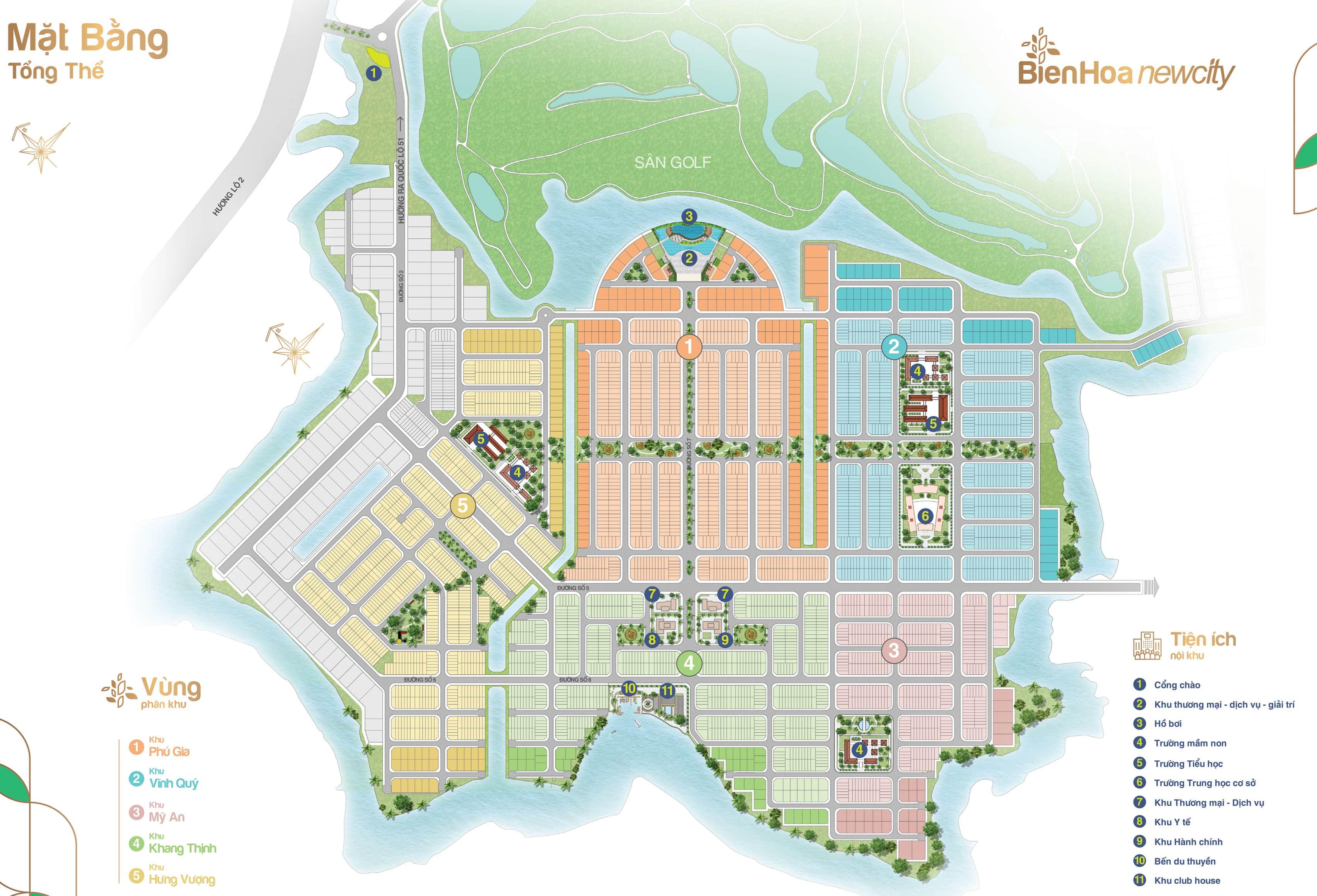 Mặt bằng tổng thể khu đô thị BIen Hoa New City