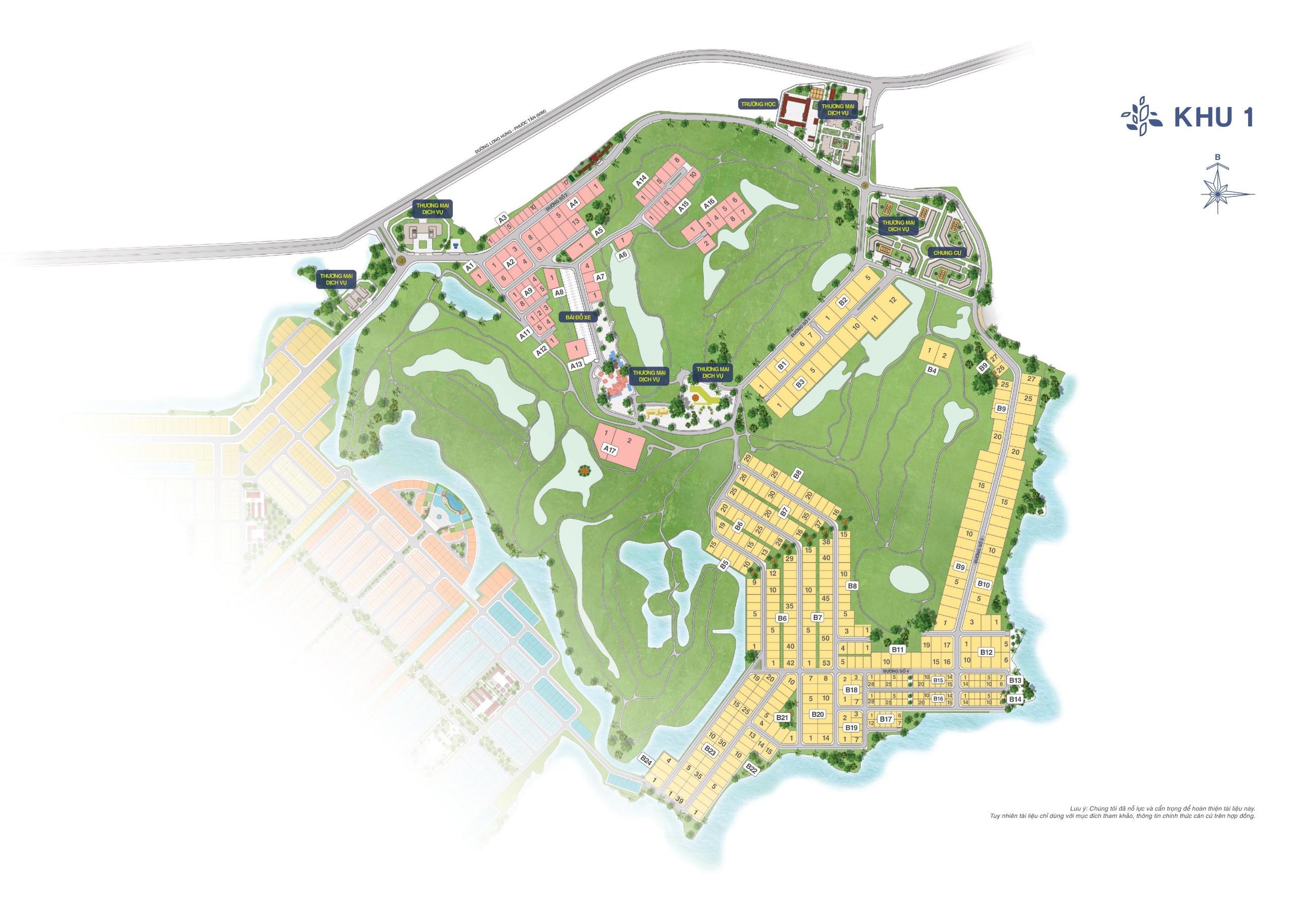 Mặt bằng phân khu 2 dự án Bien Hoa New City