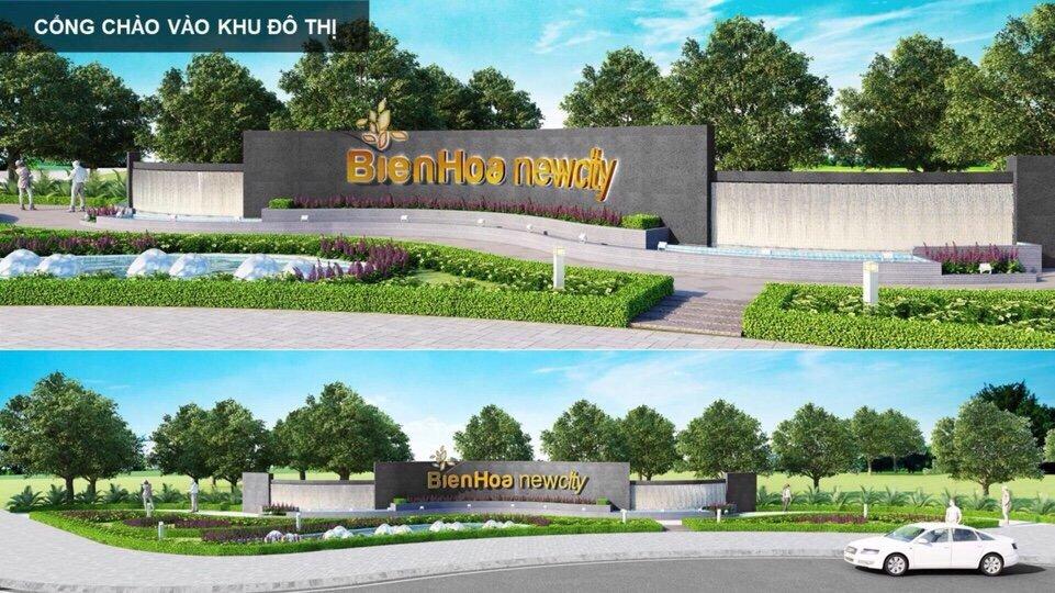 Cổng chào vào khu đô thị Bien Hoa New City