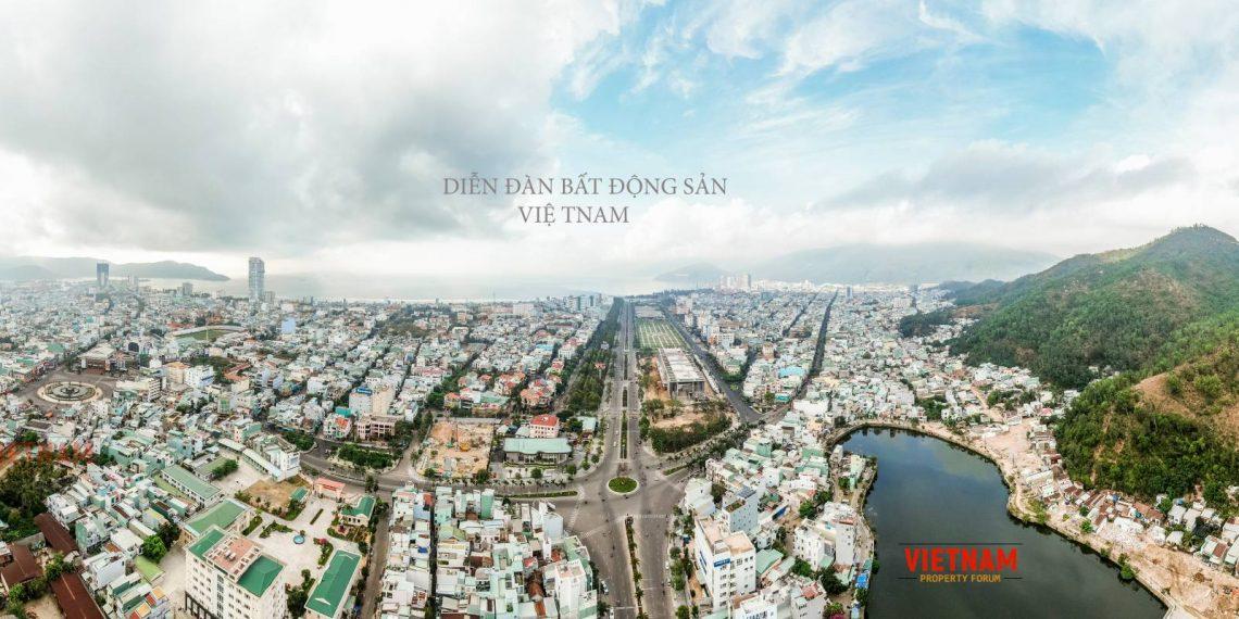 Toàn cảnh nhìn từ trên cao xuống Grand Center Quy Nhơn