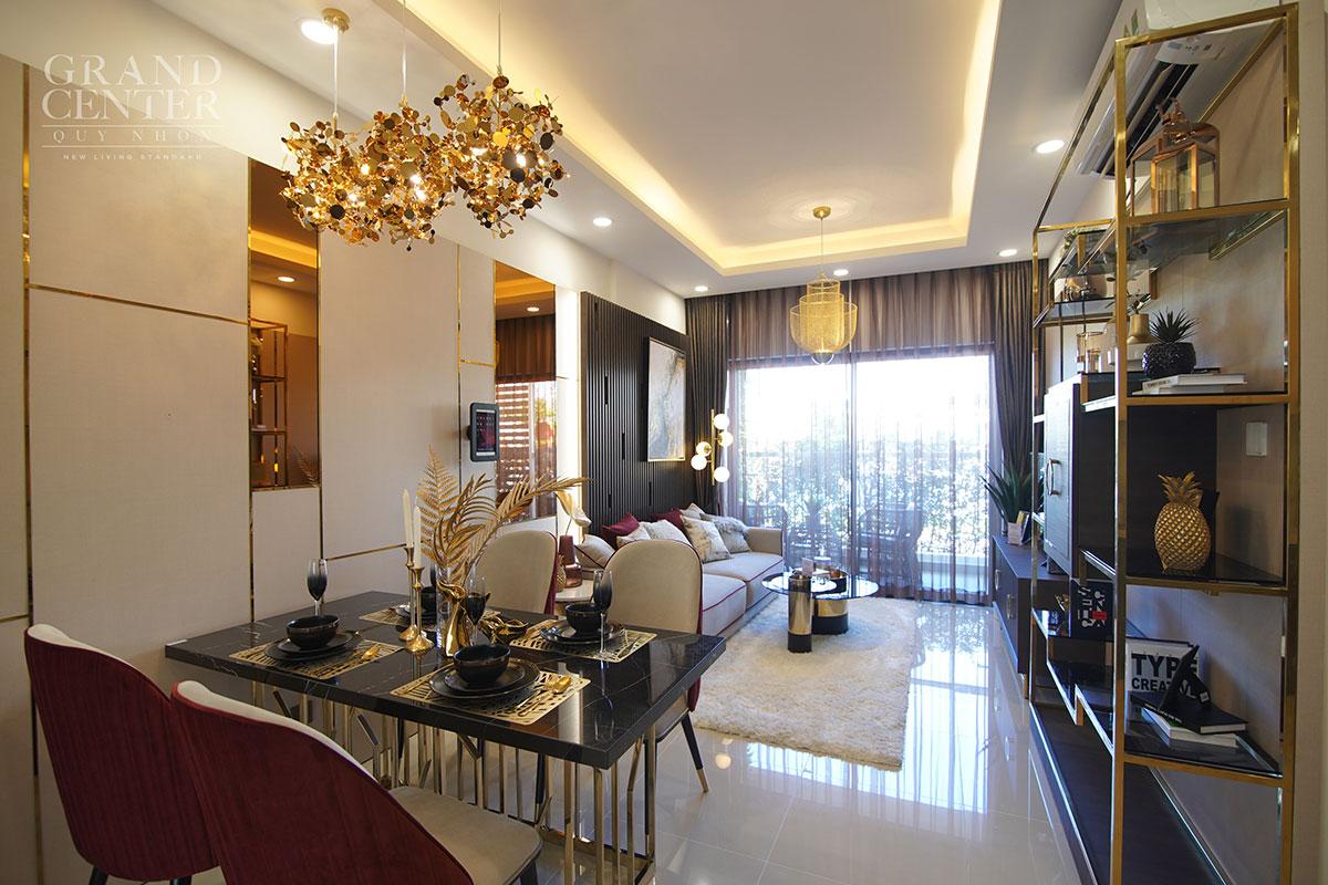 Căn hộ mẫu 2 PN Grand Center Quy Nhơn Hưng Thịnh