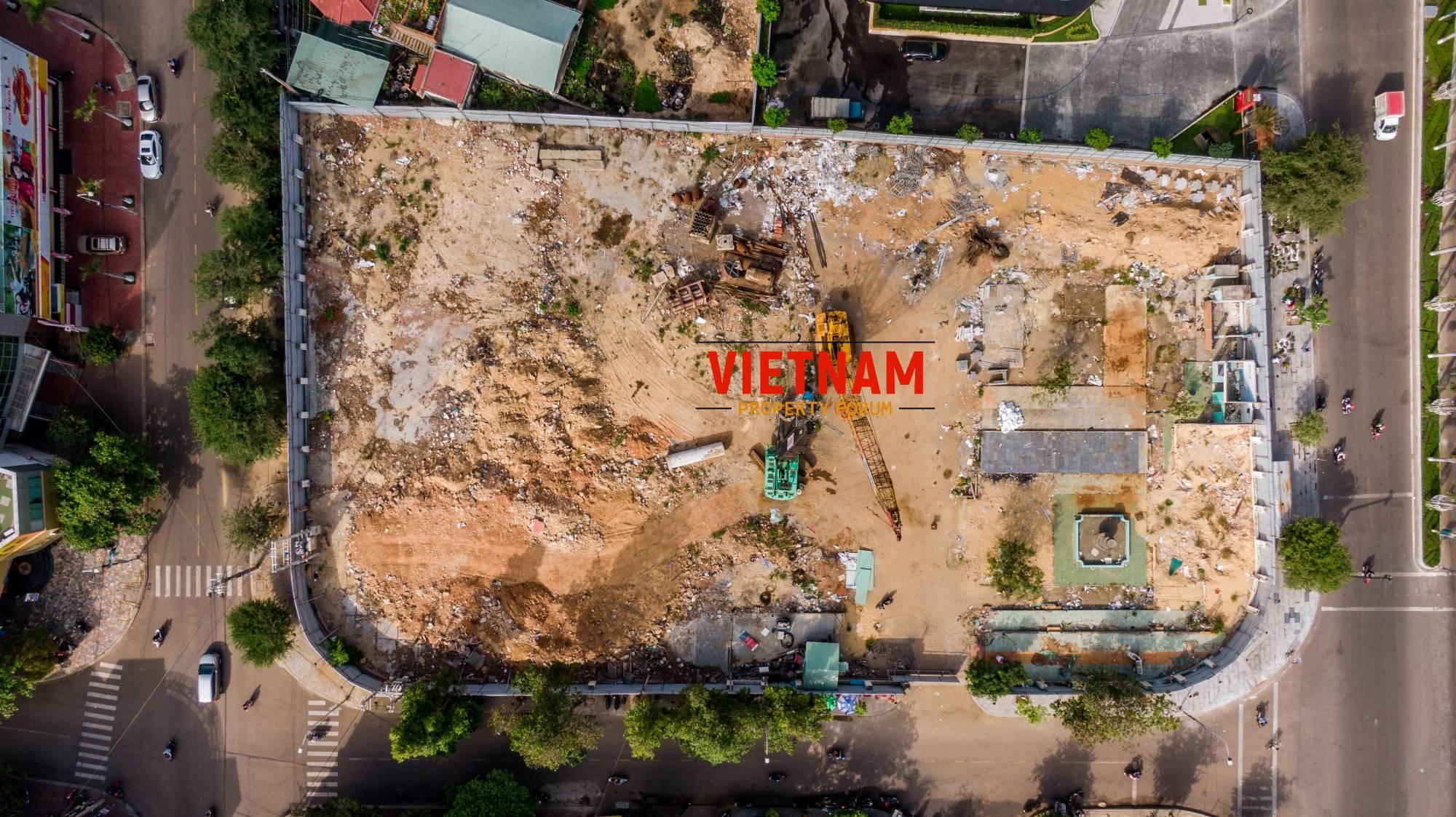 Phối cảnh Grand Center Quy Nhơn Hưng Thịnh nhìn từ trên cao