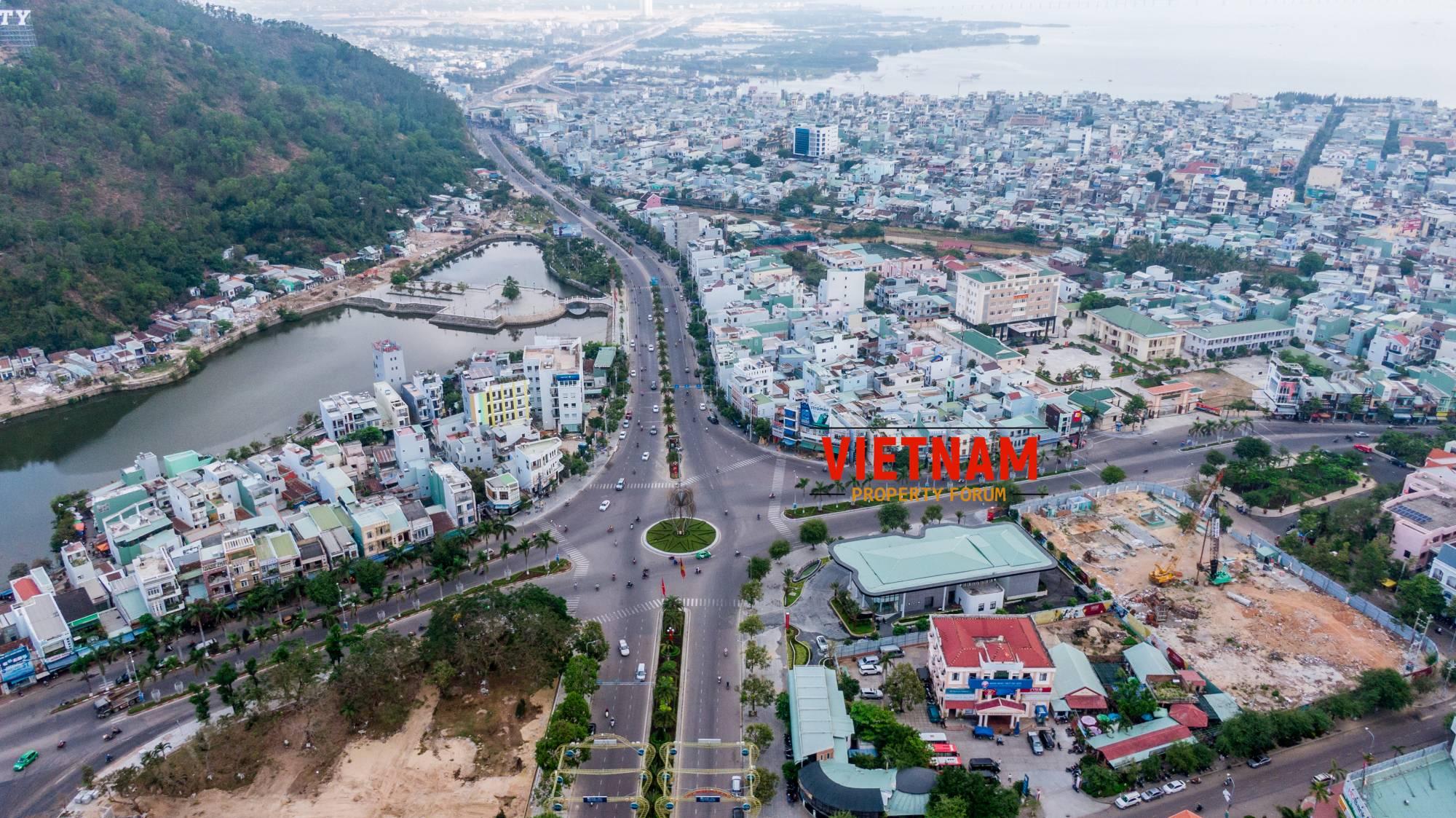 Phối cảnh Grand Center Quy Nhơn Hưng Thịnh nhìn ừ trên cao