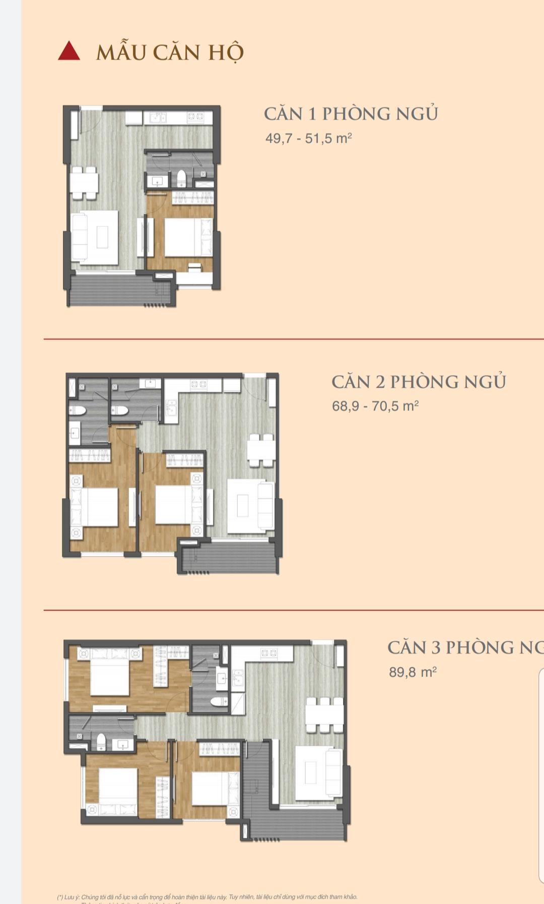 Chi tiết mẫu căn hộ Grand Center Quy Nhơn 1 -3PN