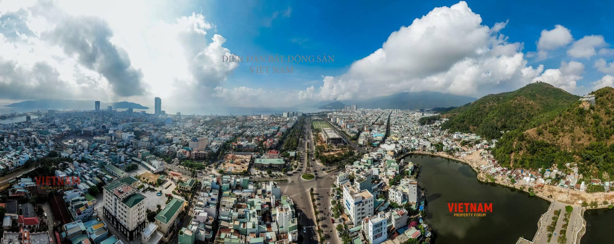 Phối cảnh Grand Cneter Quy Nhơn Hưng Thịnh nhìn từ trên cao