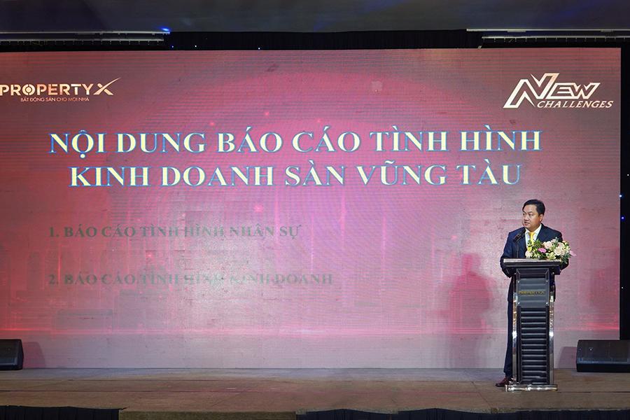 Ông Nguyễn Hồng Thỏa – Giám đốc Sàn Vũng Tàu báo cáo
