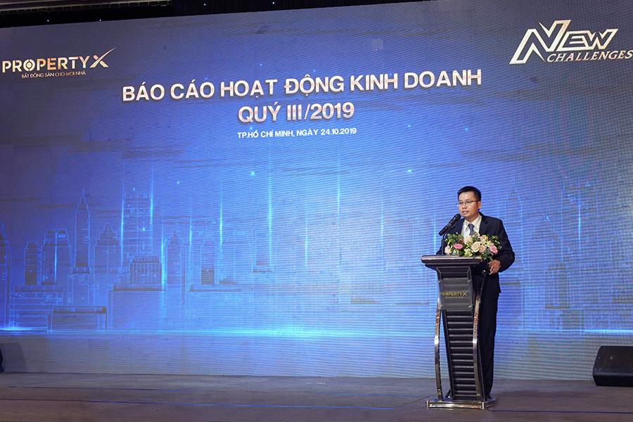 Ông Đoàn Thanh Ngọc – Phó Tổng Giám đốc Thường trực PropertyX báo cáo