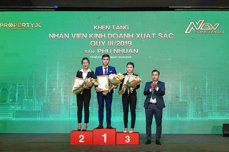 Top 3 nhân viên xuất sắc nhất Sàn Nguyễn Chí Thanh