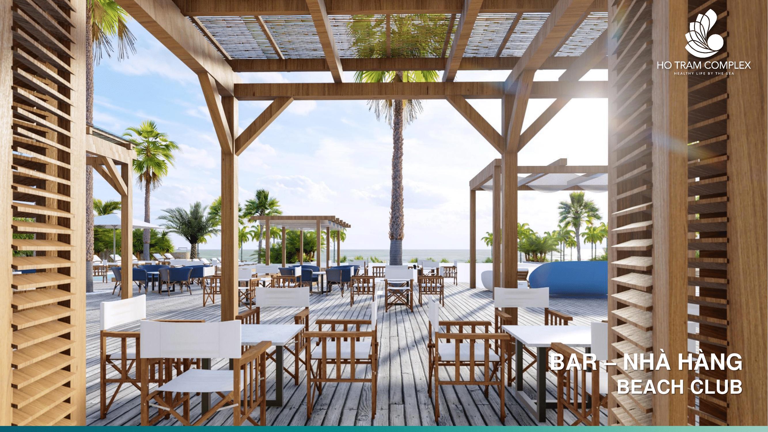 Khu bar -  nhà hàng tại Hồ Tràm Complex Hưng Thịnh