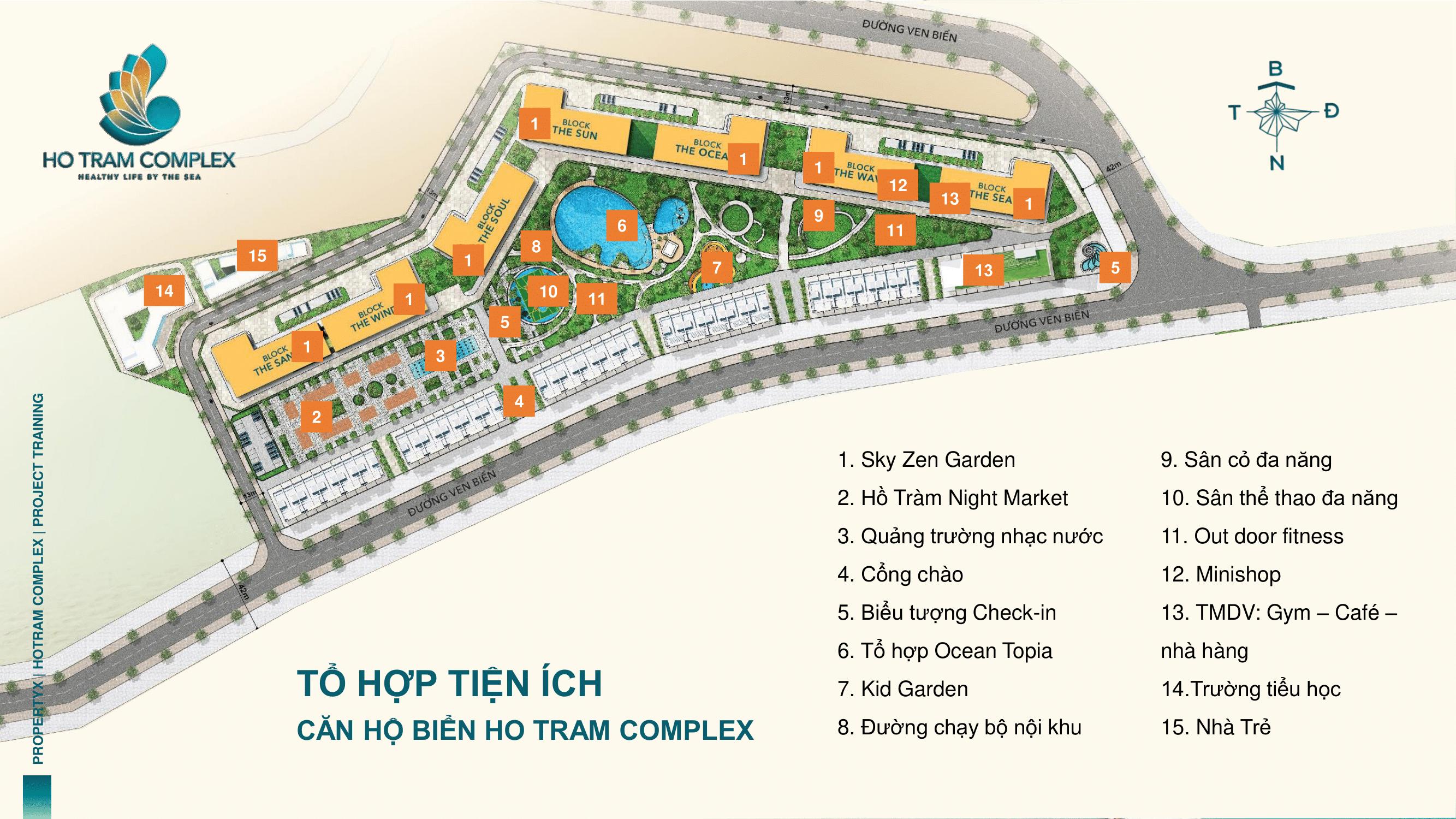 Tiện ích nội khu dự án HofoTramf Complex