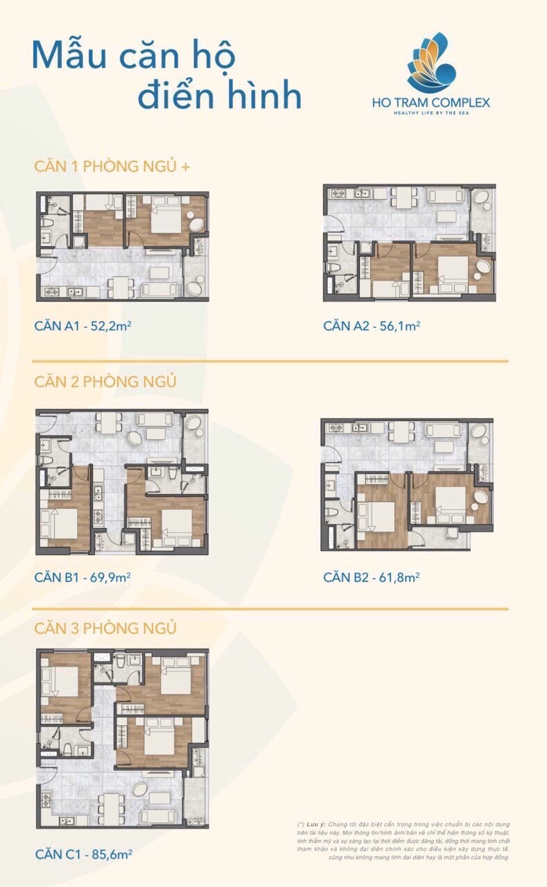Mẫu căn hộ điển hình Ho Tram Complex