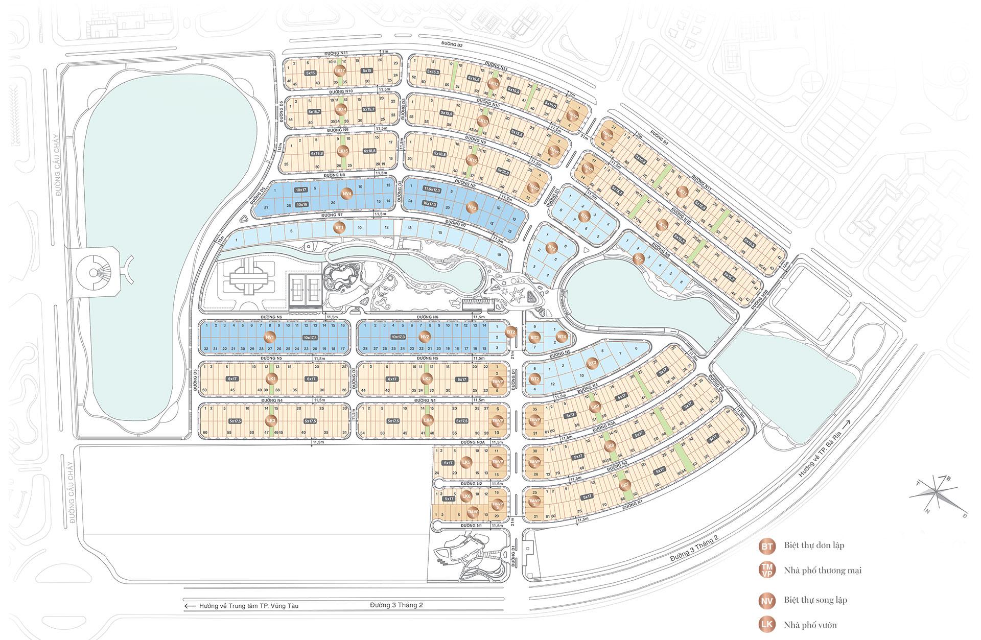 Mặt bằng tổng thể dự án Lavida Residences
