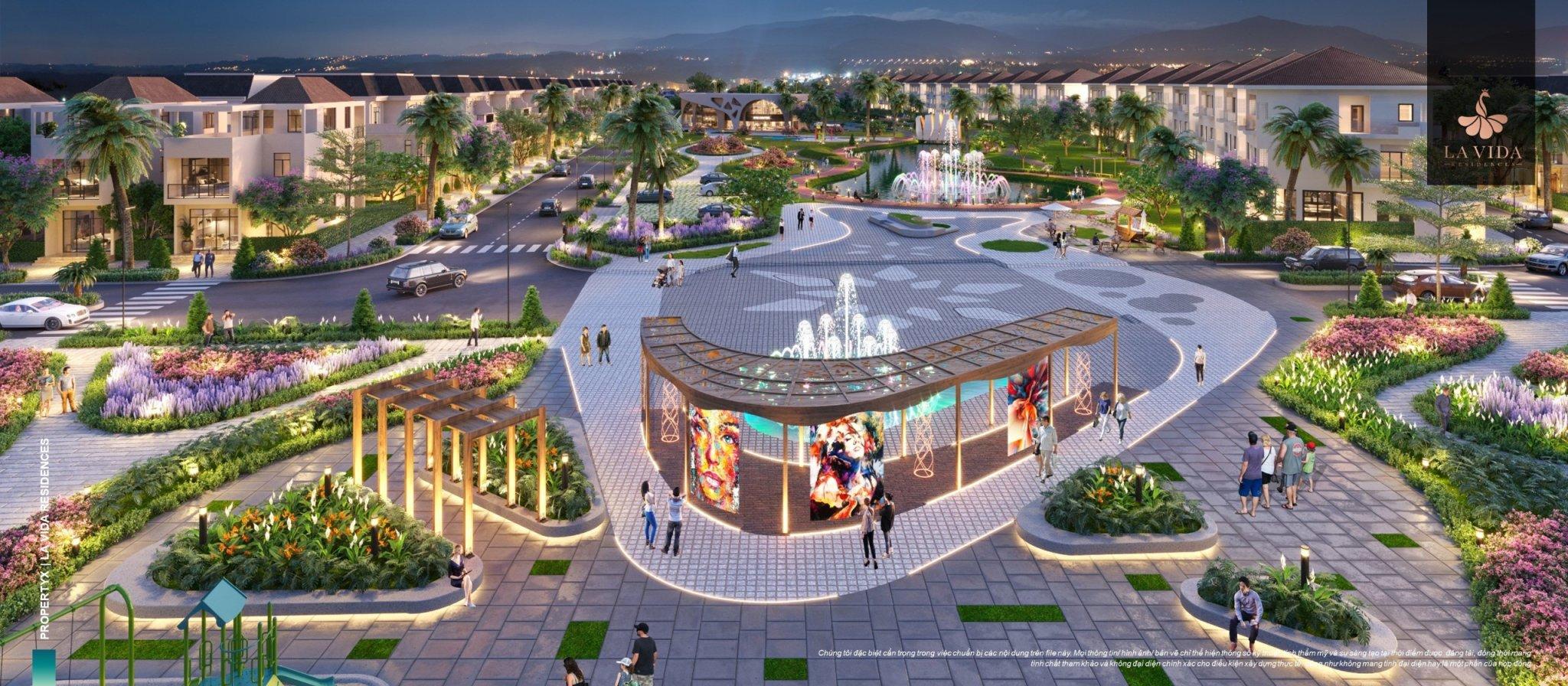 Quảng trường trung tâm tại Lavida REsidences Vũng Tàu