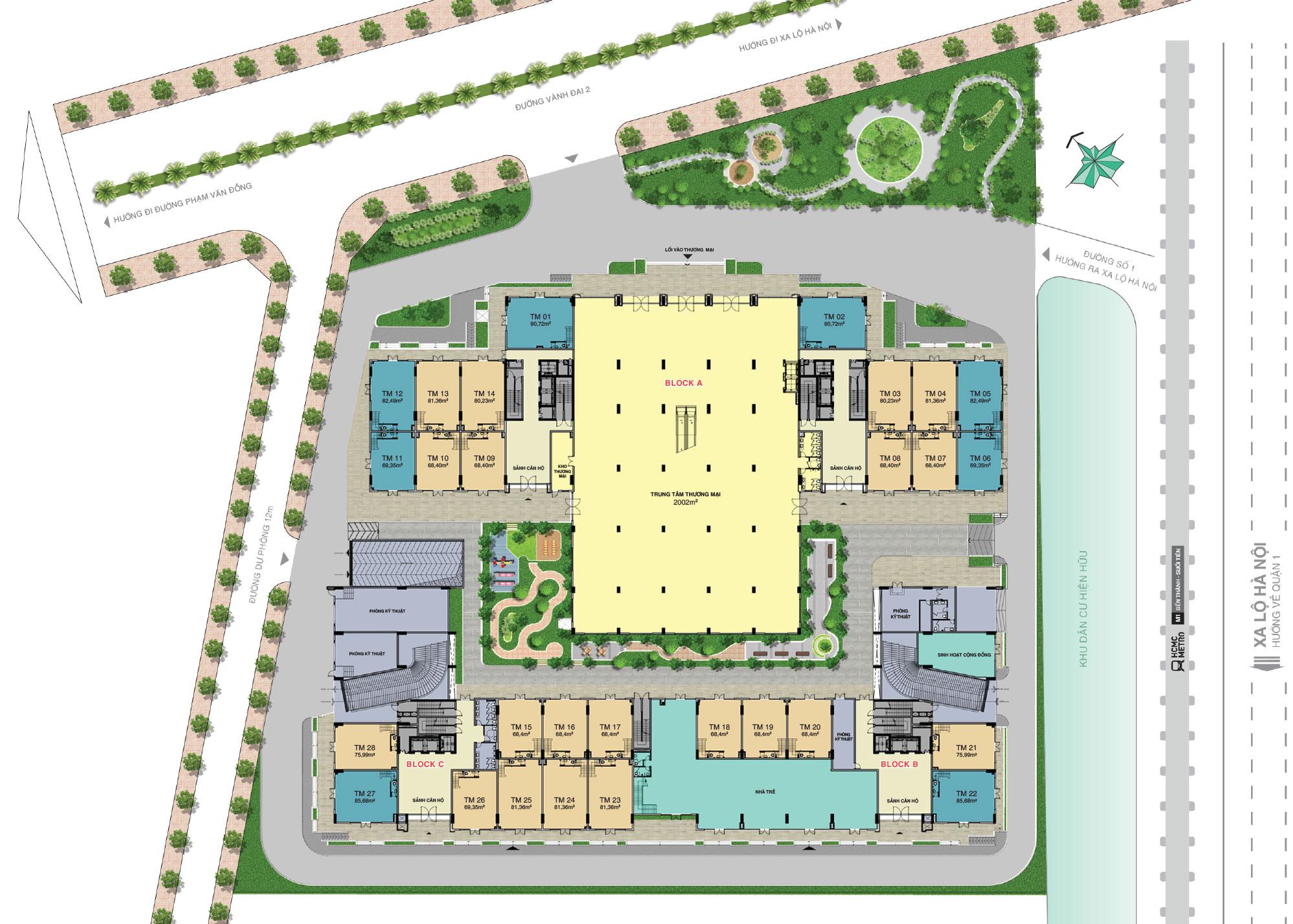 Mặt bằng tầng 1 Laviat Charm quận Thủ Đức HƯng Thịnh
