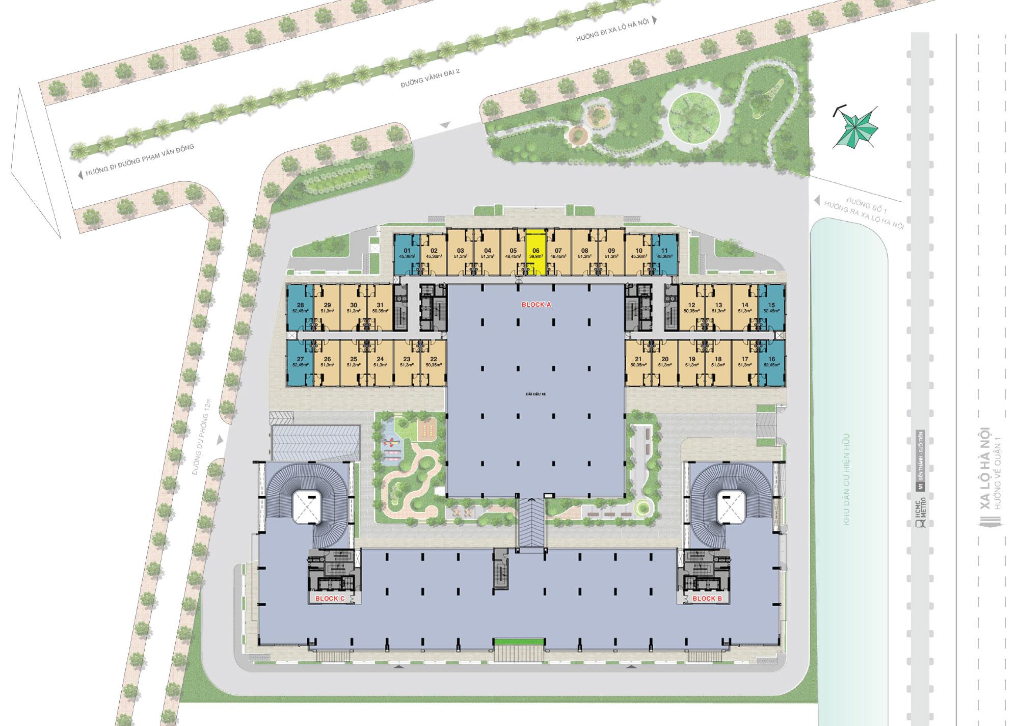 Mặt bằng dự án Lavita Charm quận Thủ Đức Hưng Thịnh