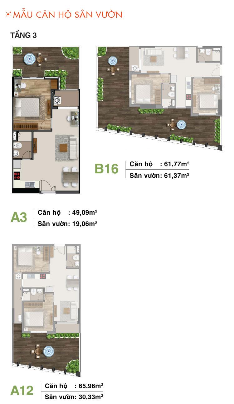 Mẫu căn hộ sân vườn tầng 3 Moonlight Residences quận Thủ Đức