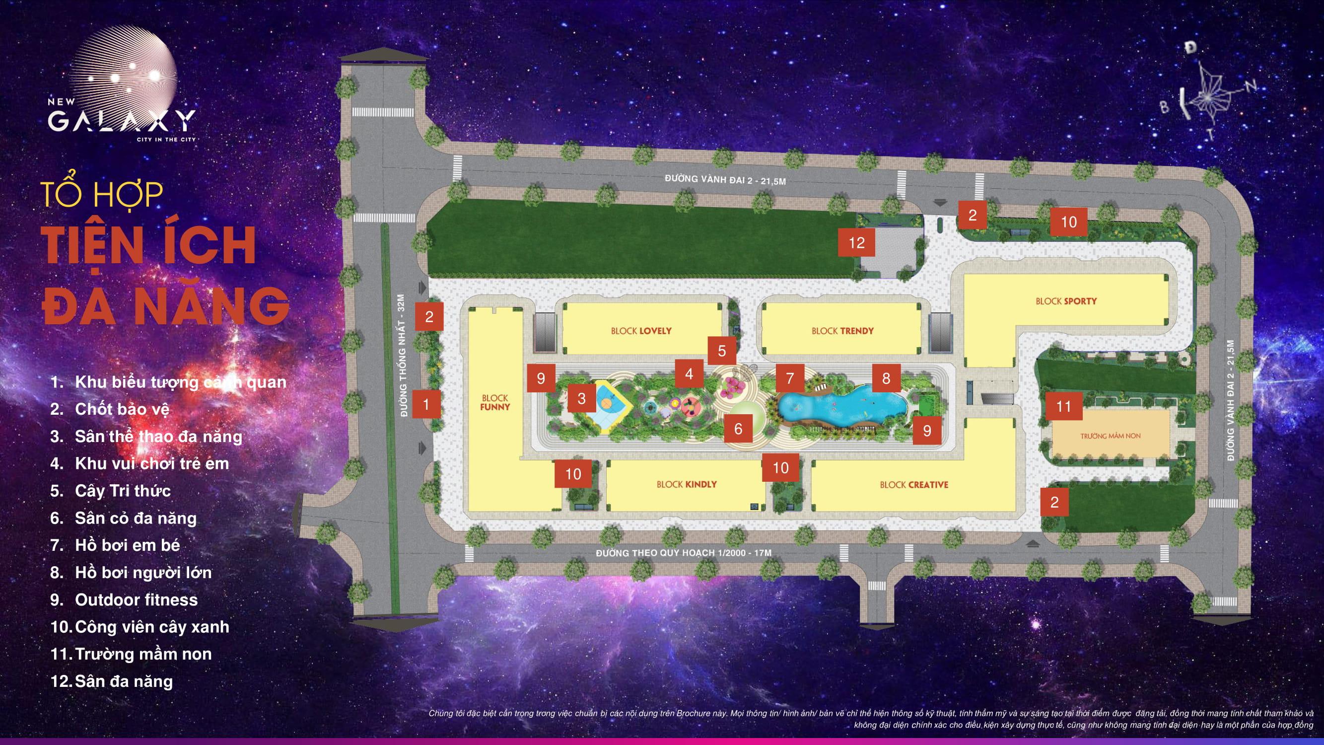 Tổng thể tiện ích nội khu dự án căn hộ New Galaxy