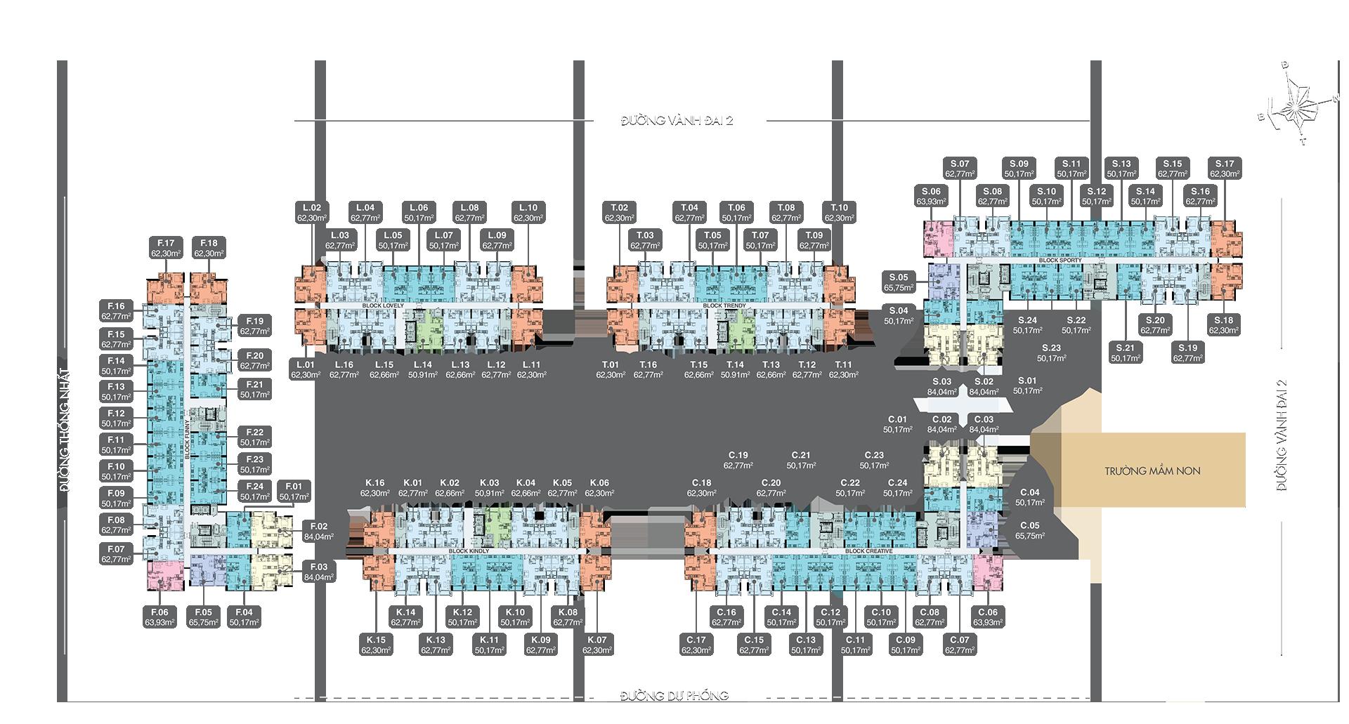 Mặt bằng tầng 6-18 dự án New Galaxy