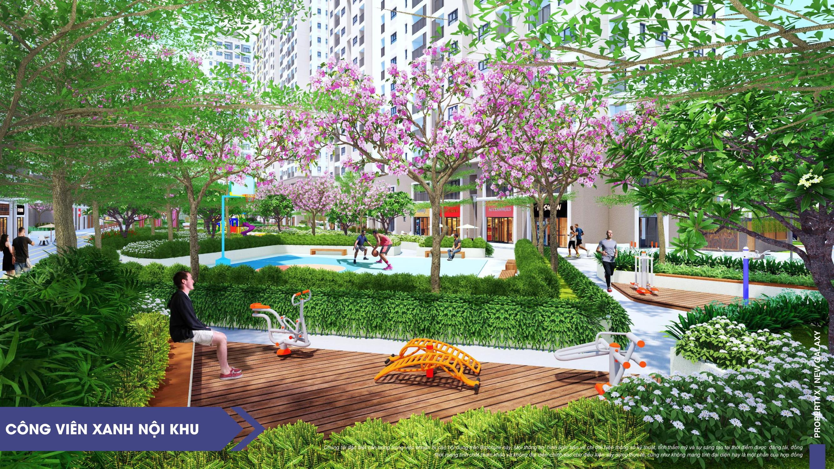 Công viên nội khu tại dự án căn hộ New Galaxy