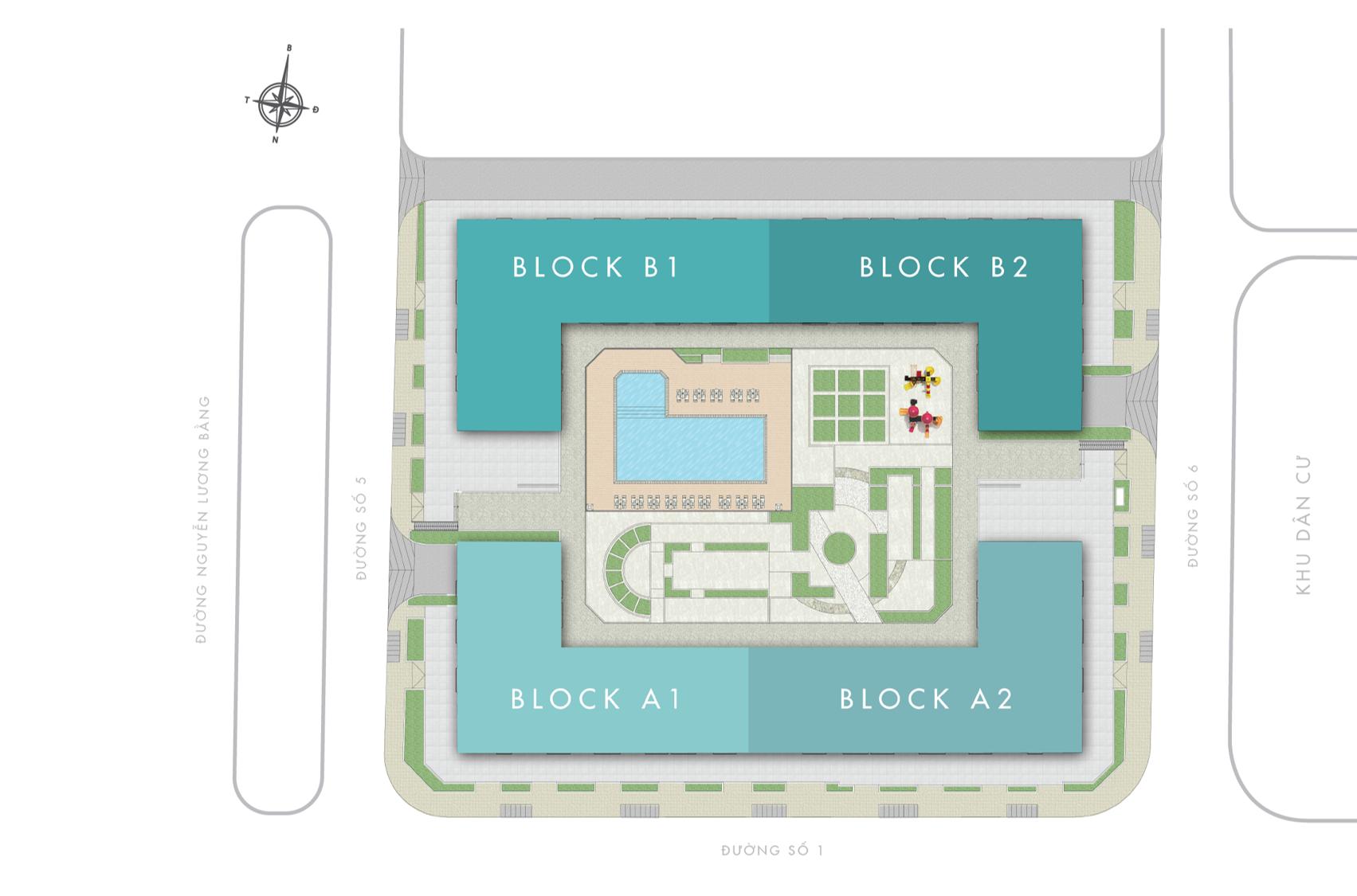 Mặt bằng tổng thể dự án Q7 Boulevard