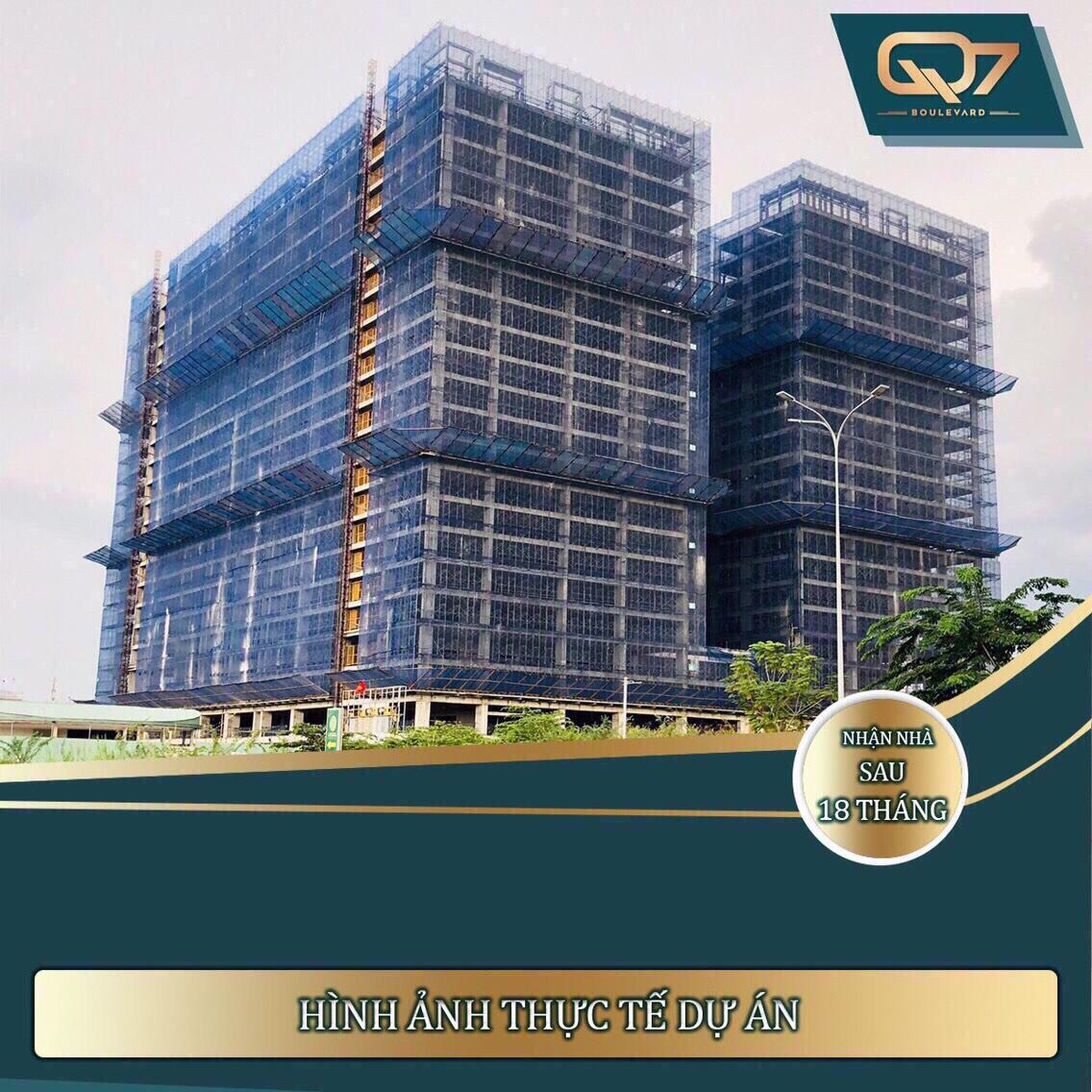Hình ảnh thực tế dự án Q7 Boulevard Hưng Thịnh