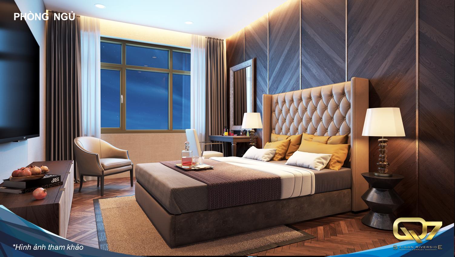 Phòng khách căn hộ Q7 Saigon Riverside Complex Quận 7 Hưng Thịnh