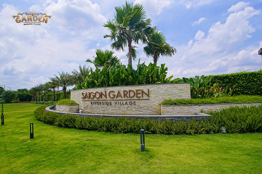 Cổng chính Saigon Garden Riverside Village Quận 9