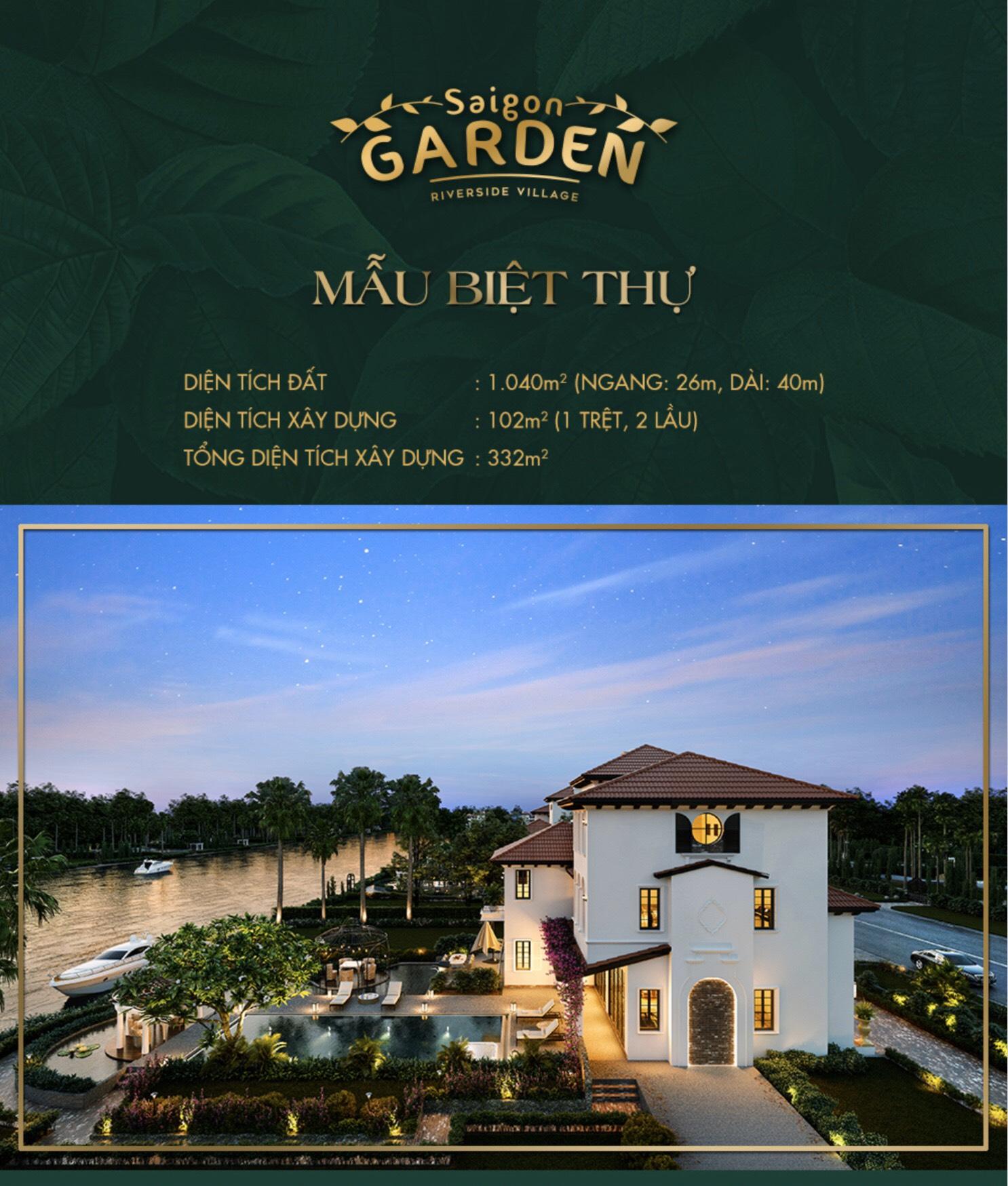 Mẫu biệt thự Saigon Garden Riverside Village