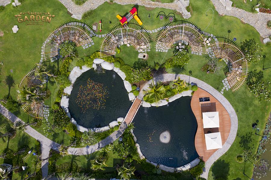 Nhìn Saigon Garden Riverside VIllage từ trên cao xuống