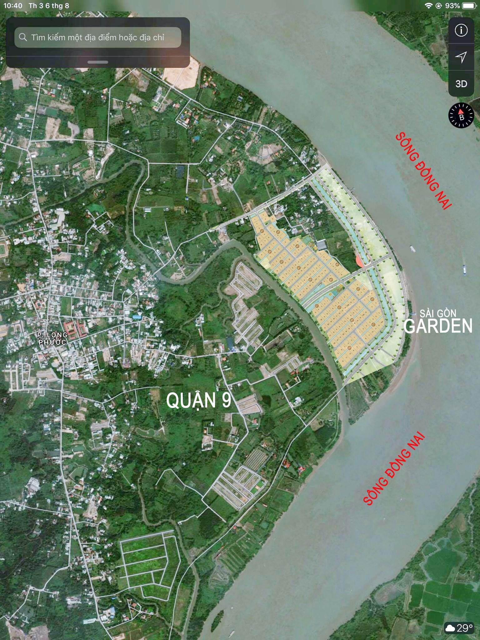 Vị trí dự án Saigon Garden Riverside Village Quận 9