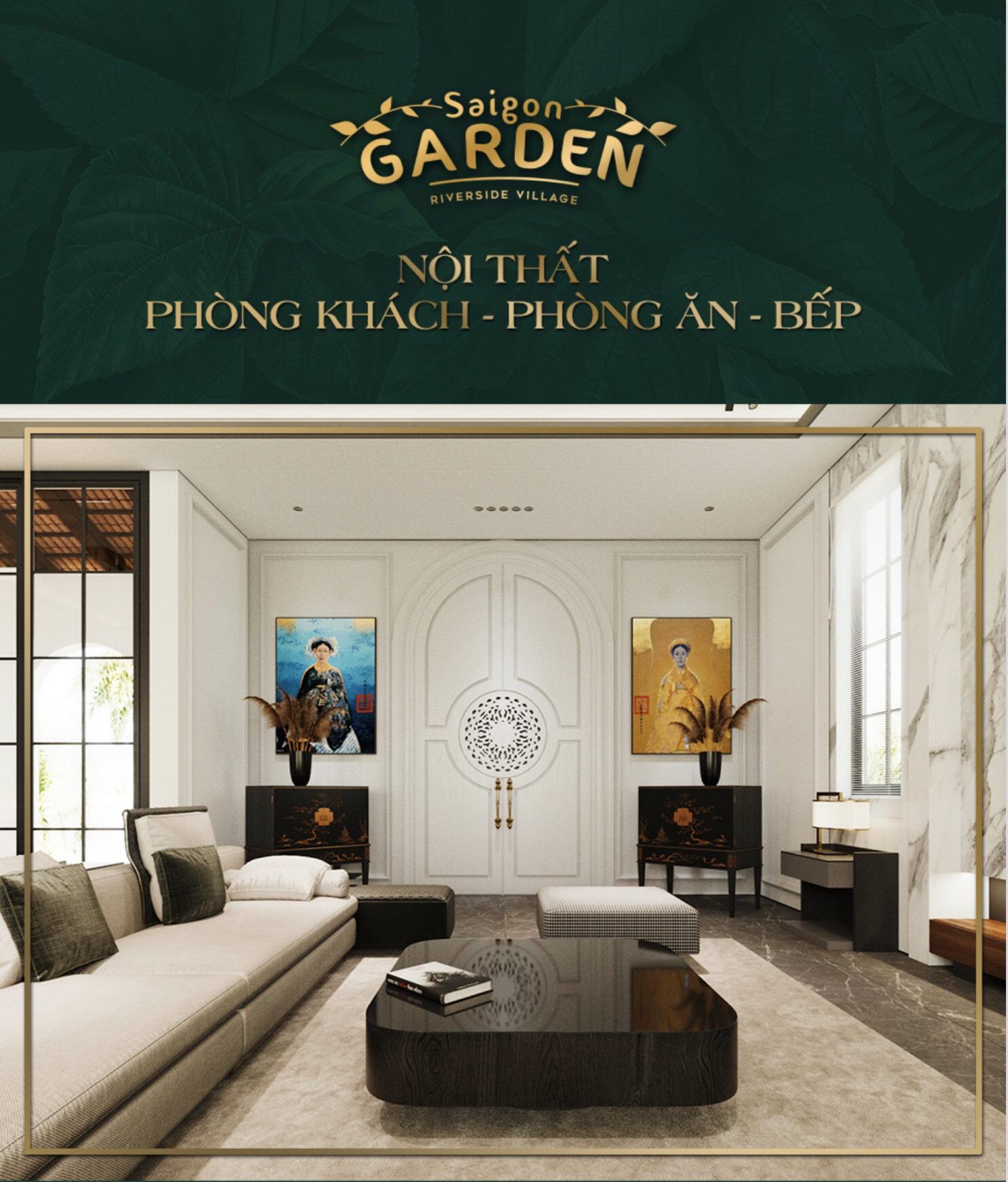 Nội thất Phòng khách - Phòng Ăn - Bếp Saigon Garden Riverside Village Quận 9