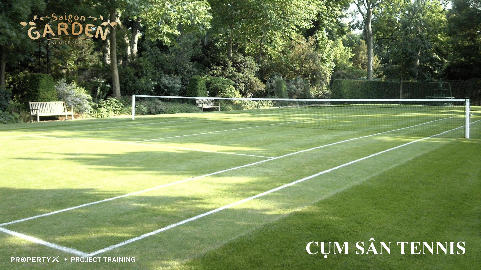 Cụm sân tennis tại dự án Saigon Garden Riverside Village