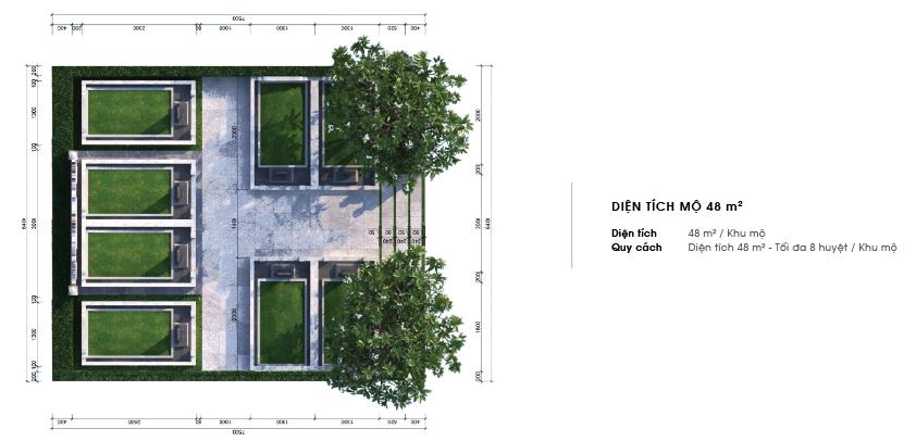 Thiết kế chi tiết mộ gia tộc Sala Garden