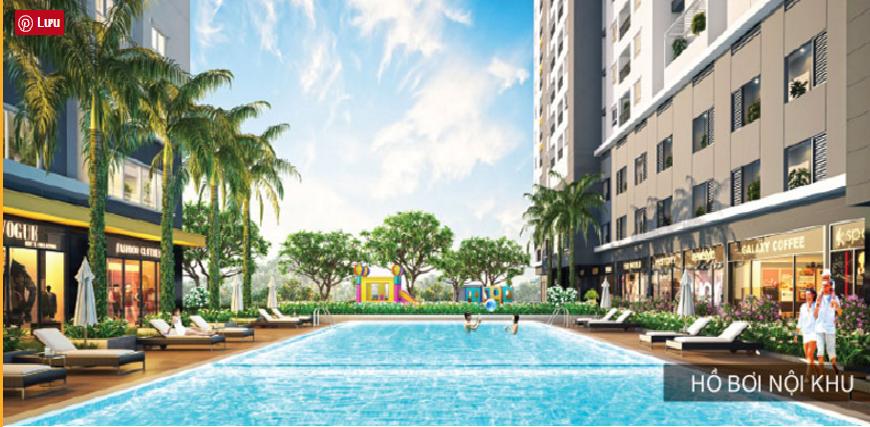 Hồ bơi nội khu dự án Sonata Residences quận Bình Tân